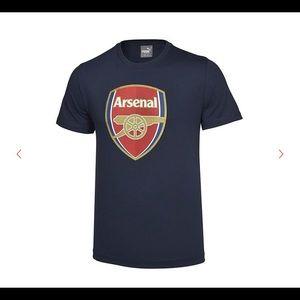 PUMA | the arsenal crest navy logo t shirt XXL